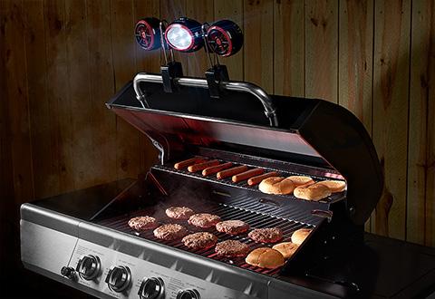 Bbq Grill Light And Fan Sharper Image
