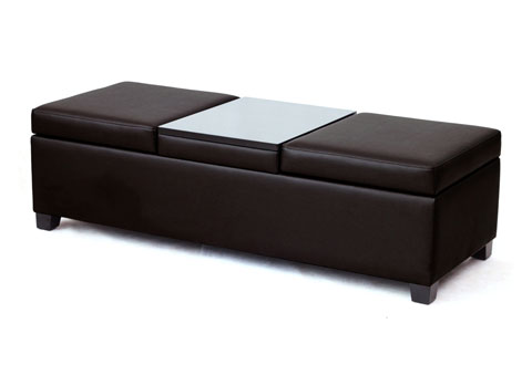 Fantastic Storage Ottoman With Tray And Double Lids Sharper Image Gmtry Best Dining Table And Chair Ideas Images Gmtryco