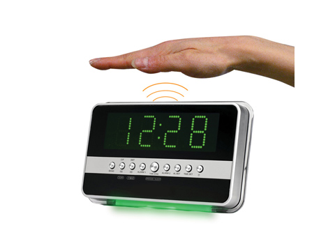 Motion Activated Alarm Clock At Sharper Image