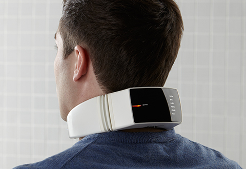 Neck Massager With Wireless Remote Control At Sharper Image