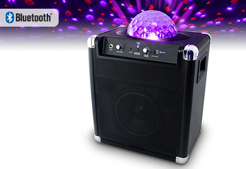 Wireless Speaker With Party Light At Sharper Image