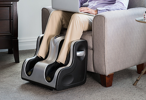 Heated Leg And Foot Massager At Sharper Image