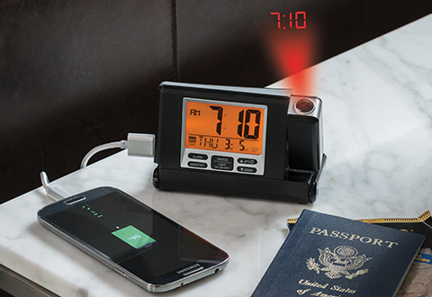 Travel Projection Clock Sharper Image
