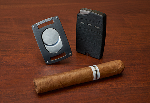 Ultra-Slim Cigar Lighter and Cutter @ Sharper Image