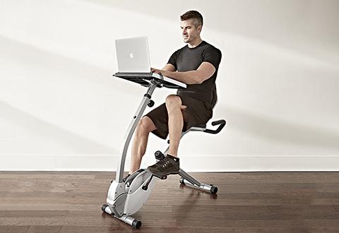 Laptop Workout Desk And Recumbent Bike Sharper Image