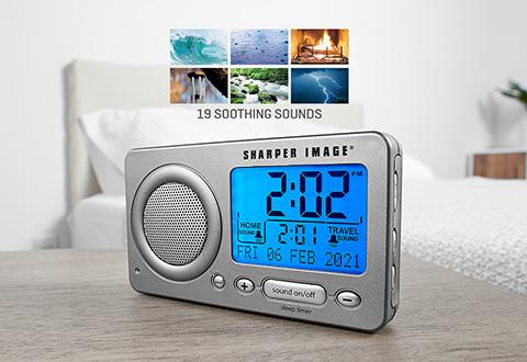 Travel Sleep Sound Machine with Alarm @ Sharper Image