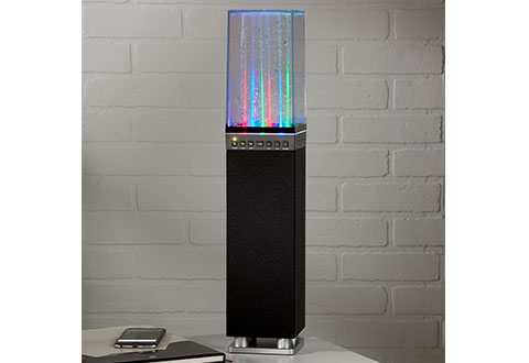 Bluetooth Tower Dancing Water Fountain Speaker At Sharper Image