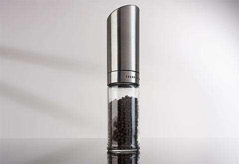Gravity Controlled Salt Or Pepper Mill At Sharper Image