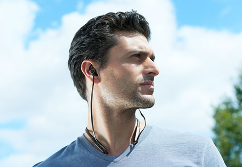 Flexible Bluetooth Sports Earbuds At Sharper Image