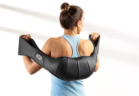 Neck And Back Massager With Handles At Sharper Image