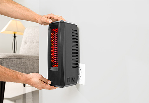 Space Saving Wall Heater @ Sharper Image