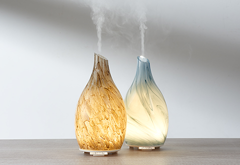 Sand Blasted Glass Ultrasonic Aromatherapy Diffuser At Sharper Image