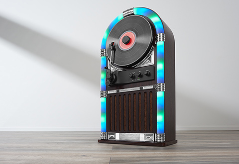 Wireless LED Jukebox And Record Player @ Sharper Image