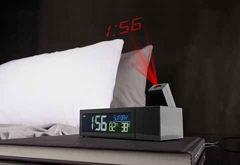 Projection Alarm Clock At Sharper Image