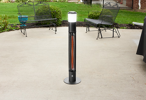 Ultimate Outdoor Heater And Bluetooth Speaker Sharper Image
